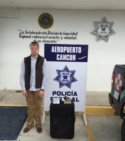 SEGUNDO DEL DÍA: Detienen a hombre con balas en el aeropuerto de Cancún