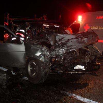 Choque de autos deja seis heridos en Felipe Carrillo Puerto