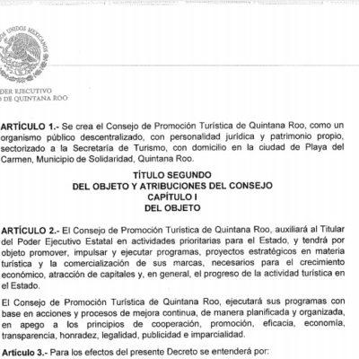 Oficializan el Consejo de Promoción Turística de Quintana Roo