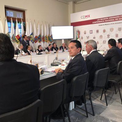 Asiste Carlos Joaquín a reunión de la Conago y pide impulsar plataformas digitales en beneficio de la sociedad