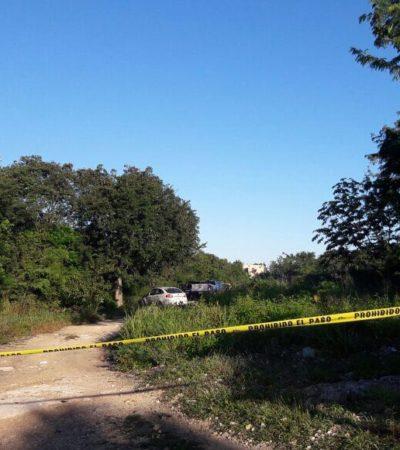 Encuentran cadáver junto a un camino de terracería en la Región 206