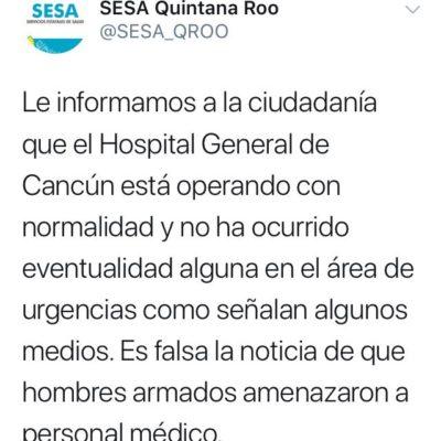Falsa alerta genera movilización policiaca en el Hospital General