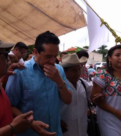 Convive Gobernador con dignatarios mayas en Felipe Carrillo Puerto