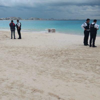 Encuentran cuerpo enterrado en playa de Zona Hotelera de Cancún