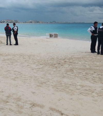 Cuerpo que fue localizado en la Zona Hotelera este lunes por la mañana era de una persona ahogada
