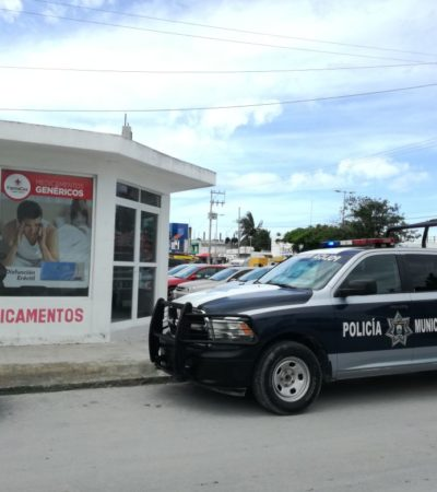 Roban farmacias, pero no denuncian en Cozumel