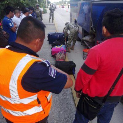 Instalan filtro policiaco a la entrada de Cancún en la autopista a Mérida