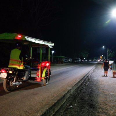 Entrega Alcaldesa obra de modernización de alumbrado público en Leona Vicario