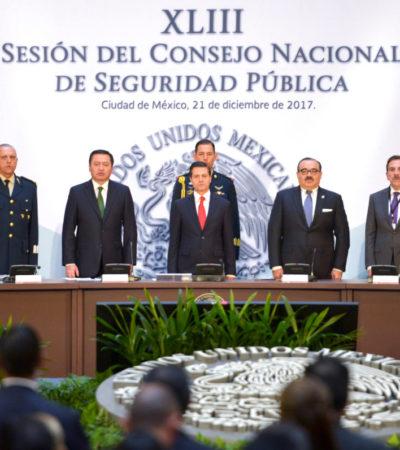 Anuncia Peña Nieto promulgación de la polémica Ley de Seguridad, pero escurre el bulto y esperará a que la SCJN la valide