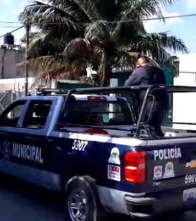 Vecinos de la SM 230 entregan a presunto ladrón