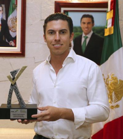 Dan a Benito Juárez Premio Nacional de Buen Gobierno por proyecto 'Plataforma Digital'