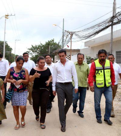 Entre 2017 y 2018 se invertirán 101 millones de pesos en obras de electrificación, como parte de la regularización de asentamientos en la periferia de Cancún, anuncia Alcalde