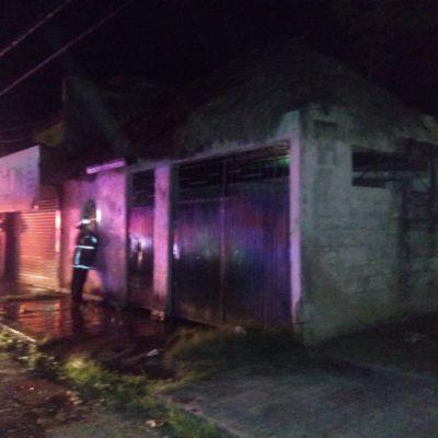 Pirotecnia guadalupana quema casa en Chetumal