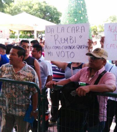 CRÓNICA DE UNA PROTESTA POLICIACA: Así consiguieron agentes bono del Fortaseg tras más de 10 horas de presión en Cancún | VIDEO