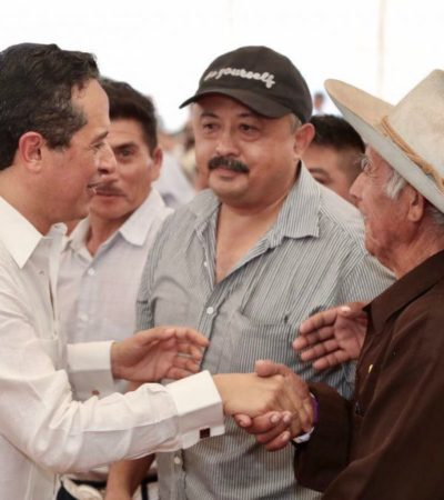 Se invierten 18.6 mdp para obtener una producción agrícola con valor de 346 mdp en Bacalar, FCP, JMM, LC, OPB y Tulum, asegura Carlos Joaquín