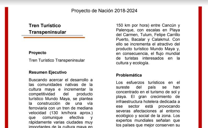 PROPONE AMLO TREN CANCÚN-PALENQUE: Retoma candidato de Morena proyecto de tren transpeninsular que atravesará la Península de Yucatán