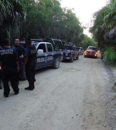 Con machetes, ingresan a predio en Punta Piedra, pero desaparecen al llegar la policía de Tulum