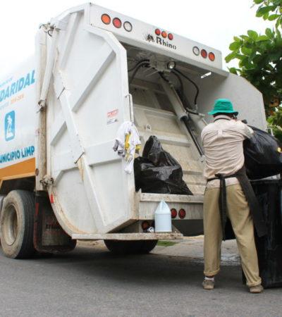 Refuerza comuna de Solidaridad recoja de basura por temporada vacacional