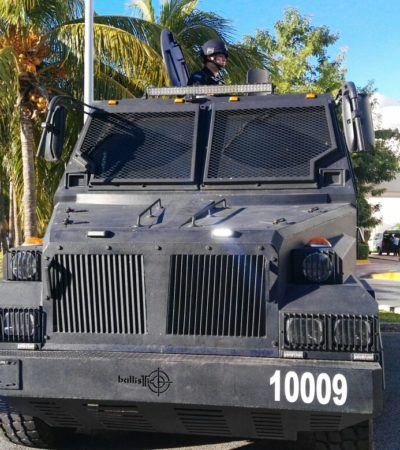 Vigila 'Rhino' la Zona Hotelera de Cancún