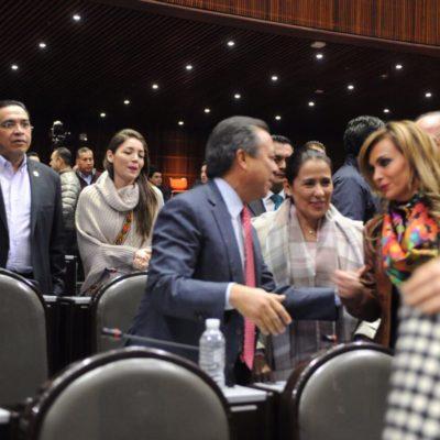 NUNCA SE QUEJÓ DE LAS PINTAS DE BORGE, PERO…: Propone Sara Latife prohibir colores partidistas en escuelas