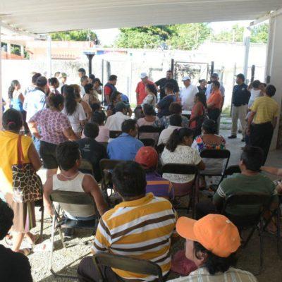 Ex trabajadores acuerdan levantar plantón en Felipe Carrillo Puerto