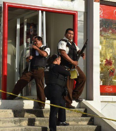 Por error, dejan abierto cajero automático y generan movilización policiaca en la SM 2 de Cancún