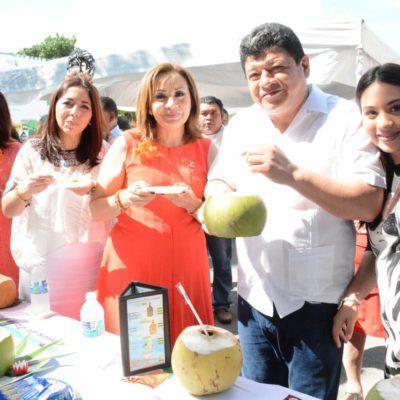 Inauguran la Feria del Coco en Calderitas