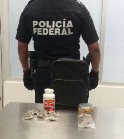 'Olvidan' sustancias prohibidas en el baño del aeropuerto