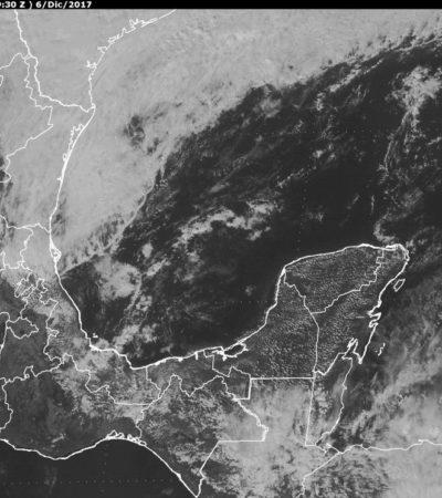 Bajarán temperaturas por llegada del frente frío 14 a la Península de Yucatán
