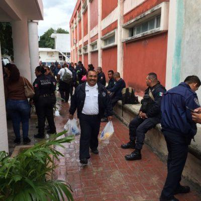 PROTESTAN POLICÍAS, AHORA EN CANCÚN: Agentes reclaman pagos del Fortaseg y dicen que no han recibido uniformes