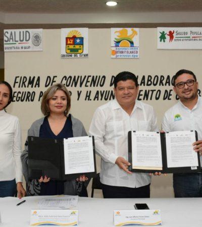 Firma comuna de OPB convenio con el Seguro Popular para facilitar acceso a servicios de salud