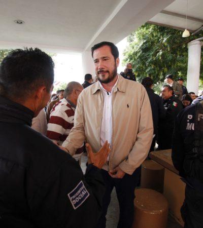 ACUERDAN POLICÍAS Y COMUNA TREGUA: El viernes darán respuesta a demandas de agentes tras amago de paro de labores en Cancún por reclamo de pago de bono del Fortaseg