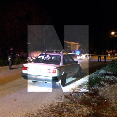 FALLIDO INTENTO DE EJECUCIÓN DE TAXISTA EN TULUM: Rafaguean auto de 'El Diablito' y resulta lesionado el copiloto