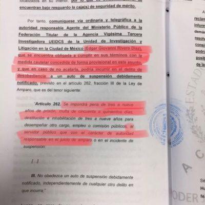 Le niega juez a la SEIDO trasladar cajas de seguridad