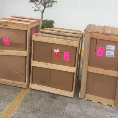 Incautan 172 kilos marihuana en el aeropuerto de Cancún escondidos en jarrones procedentes de Jalisco
