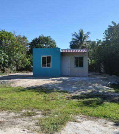 Entrega Sedeso en Ucum las primeras 30 casas de 802 que se construyen en comunidades marginadas de OPB