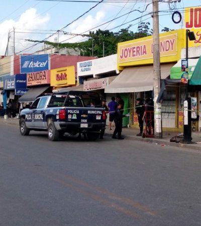 VIOLENTO ASALTO EN CANCÚN: Matan a empleado durante atraco en joyería 'Landy' sobre la Avenida Tulum en la SM 65