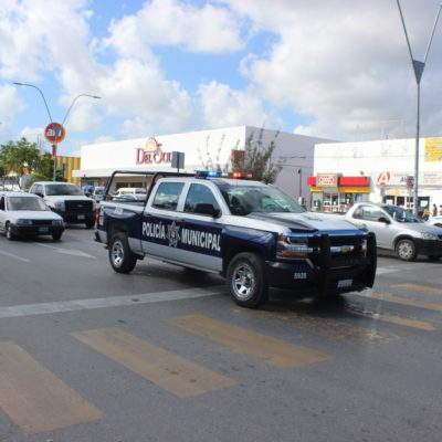 Tras hechos violentos, despliega Seguridad Pública mayor presencia policial en la zona del 'Crucero' en Cancún