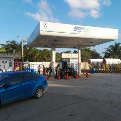 Intentan asaltar la estación de Gas Auto en la Portillo de Cancún