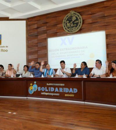 Aprueba Cabildo de Solidaridad eliminar topes presupuestales para órganos autónomos