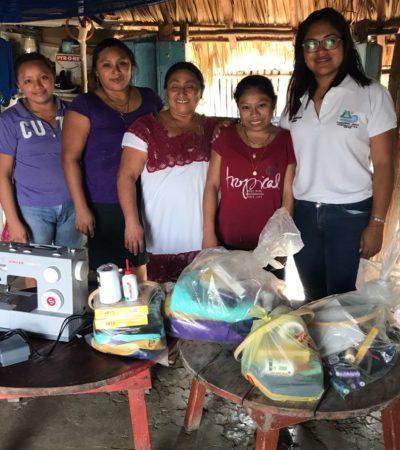 Reparten apoyos a los artesanos de Zona Maya de Tulum
