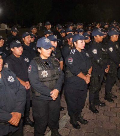 Certificados únicamente el 30% de elementos policiacos en Quintana Roo de un total de 1,200