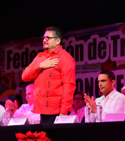 LLEVA 26 AÑOS EN EL CARGO… ¡Y VA POR MÁS!: Se perpetúa Isidro Santamaría al frente de la CTM-QR; es elegido para continuar hasta 2023