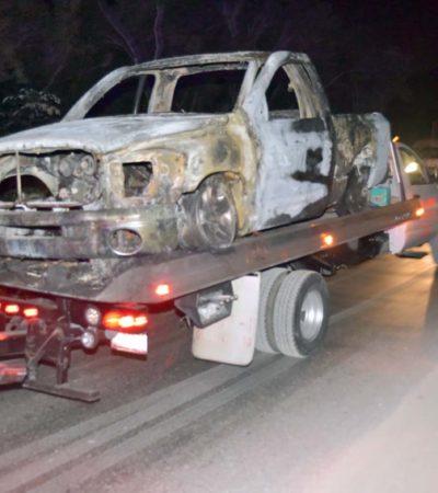 Tres cuerpos calcinados en Cancún fueron víctimas de secuestro