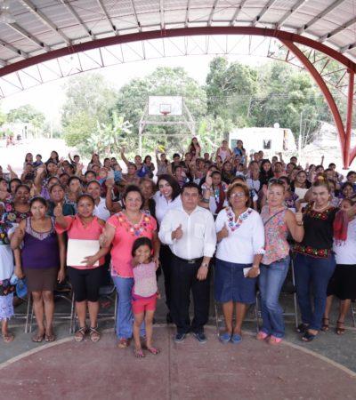 Reciben taller de empoderamiento 300 mujeres de la Zona Maya de Tulum