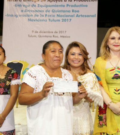 Inauguran Feria Nacional Artesanal Navideña Tulum 2017