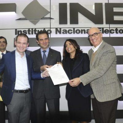 Registran PAN, PRD y MC coalición 'Por México al Frente'… y Ricardo Anaya se perfila como candidato