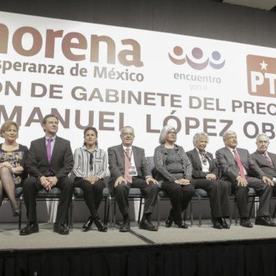 ANTICIPA AMLO SU GABINETE: Da a conocer nombres de 8 hombres y 8 mujeres que lo acompañarían en caso de ganar Presidencia