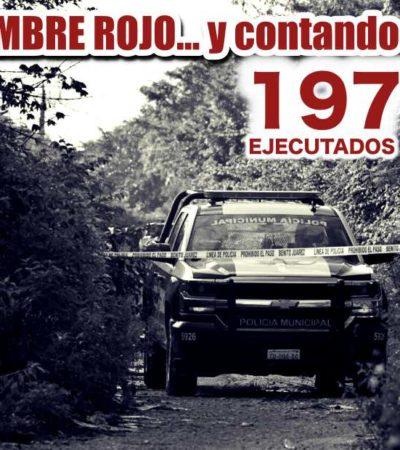 NOVIEMBRE, EL SEGUNDO MES MÁS VIOLENTO DEL 2017: Se registran este año tres de los meses con más ejecuciones en la historia de Cancún