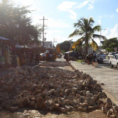 Inician trabajos de imagen urbana con fondos federales y municipalesen Tulum